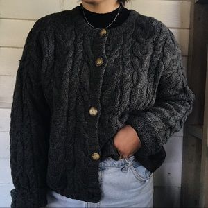 """Abercrombie and Fitch Handmade"" Wool Cardigan"
